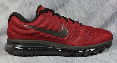 NIKE AIR MAX 2017 Men's Running Shoes Team Red Black Size 13 849559 603