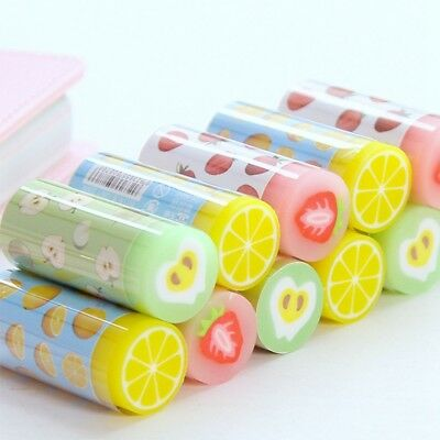 1pcs/lots Cartoon color Stationery Eraser Cute fruit series rubber earsers