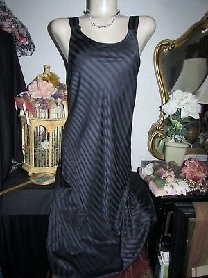 NEW CABERNET Valentine BLACK SILKY NEGLIGEE LINGERIE NIGHTGOWN GOWN SMALL  XS NWT 8b116a2aa