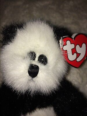 "1993 Ty Collectible Beanie Babies CHECKERS Panda Bear w/tags (9"")"