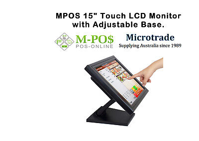 """15"""" Touch Screen Lcd Monitor is designed for POS"""