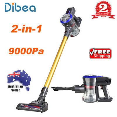 Dibea D18 2-in-1 Cordless Handheld Stick Vacuum Cleaner Two-Speed 9000Pa Suction