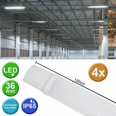 4er Set SMD LED 36 W Decken Wannen Leuchten Industrie Nassraum Big Light