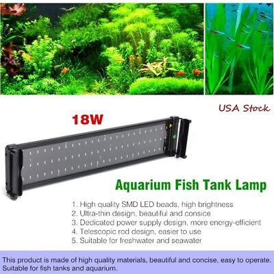 Flexible 108 LED Aquarium Light Plant Grow Fish Tank Lighting Lamp 18W 70-90cm