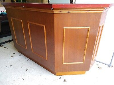Wooden Home Bar Man Cave Micro Pub Counter Used 84 00