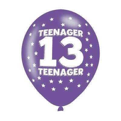 Happy 13th Birthday Pack Of 6 Latex Balloons