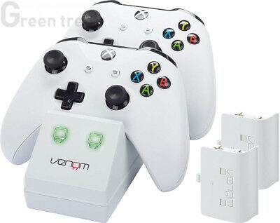 Venom Xbox One Twin Docking Station with 2 x Rechargeable Battery Packs:...