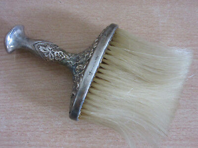 Antique Sterling Simons Brothers Floral Repousse handle Crumb Vanity Brush
