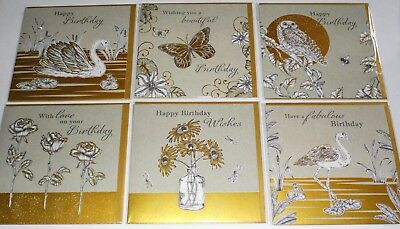 SUPERIOR HANDMADE CARDS just 45p 8 designs x 6 each (48) 'PARADISE' WRAPPED,