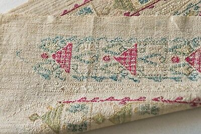 ANTIQUE 19th CENTURY OTTOMAN GREEK ISLANDS ARMENIAN YAGLIK EMBROIDERY TEXTILE