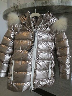 a53d49002e8c NWT ADD HOODED toddler girls Down jacket chrome gold size 4 ...