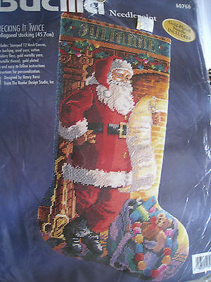 Bucilla Christmas Needlepoint Stocking Kit,CHECKING IT TWICE,60766,Rossi,18""