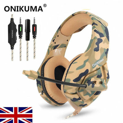 ONIKUMA 3.5mm Mic Stereo Gaming Headset Headphone for MAC Laptop PS4 Xbox One UK