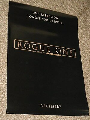 "Star Wars Rogue One ""FRENCH VER A"" vg 27x40 Original D/S Movie Poster"