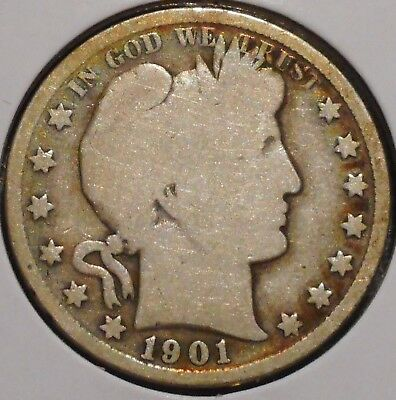 Barber Half - 1901 - Historic Silver! - $1 Unlimited Shipping