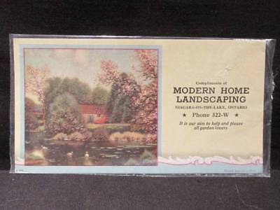 Modern Home Landscaping Niagara-On-The-Lake Ontario Phone 322W Vintage Blotter