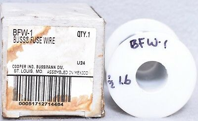15AMP NEW in BOX 1lb COOPER BUSSMANN Part # BFW-15 BUSS FUSE WIRE .066 DIA