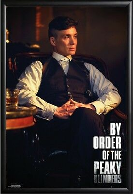 Peaky Blinders Tommy (Cillian Murphy) Poster Framed (Black), Size 24x36