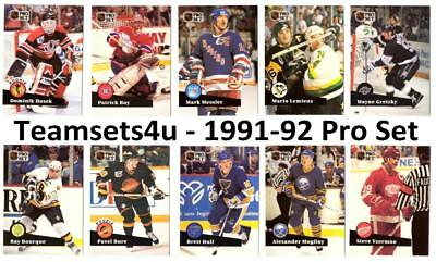 1991-92 Pro Set Hockey ** Pick Your Team ** See Checklist in Description