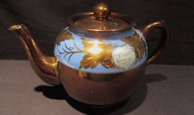 Price's National Teapots #572 Made in England Gold with Blue Original Sticker