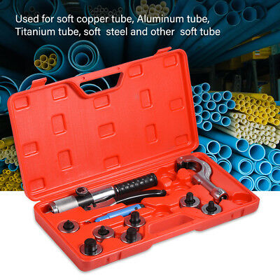 """CT-300A Hydraulic Tube Expander 7 Lever Tubing Expanding Tool Swaging Kit 3/8"""""""