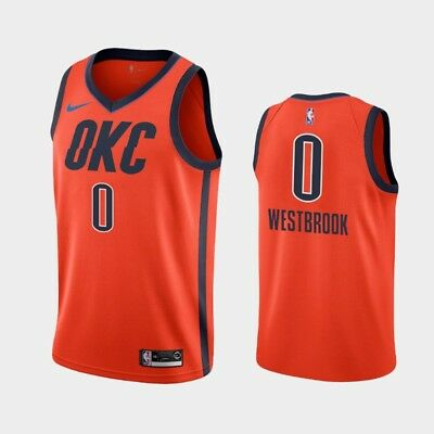 2bdc58239 Russell Westbrook  0 Oklahoma City Thunder Men s Orange Earned Jersey
