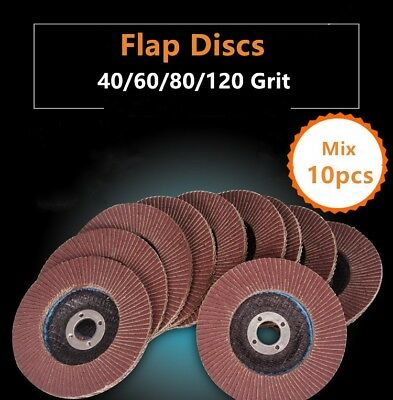 "10x Flap Discs 115mm 4.5"" Sanding Strong Sturdy Grinding Wheels Angle Grinder UK"