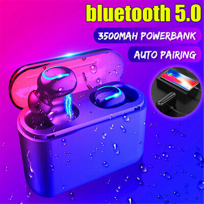 bluetooth 5.0 Ture Wireless Headphones TWS Headset Earphones Mini Earbuds Stereo