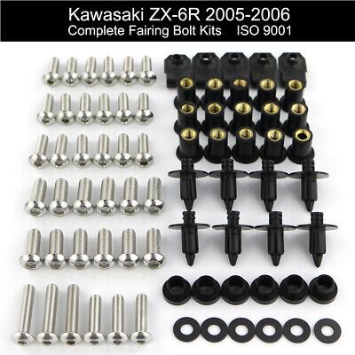 Stainless Steel Body Panel Bolt kit for BMW R1100RT contains 55 new screws