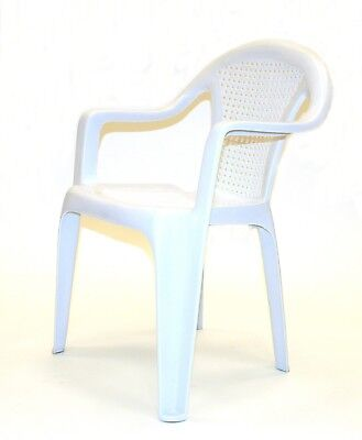 BE-104 White Plastic Patio Chairs, Plastic Chairs, Garden Patio Furniture
