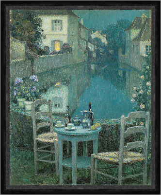 Repro choose Canvas or Paper Small Table in Evening Dusk by Henri Le Sidaner