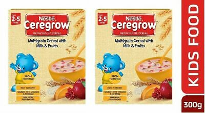 Nestlé CEREGROW Fortified Multigrain Cereal (300 gm x 2 Pack) - Free Shipping
