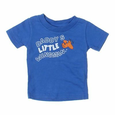 Little Teez Baby Boys  T-shirt, size 6 mo,  blue/navy,  cotton