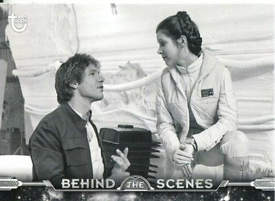 Star Wars ESB Black & White Behind The Scenes Chase Card BTS-8 Harrison and Car