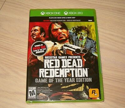 Xbox One & 360 * Red Dead Redemption Game Of The Year Edition * 2016 Brand New!!
