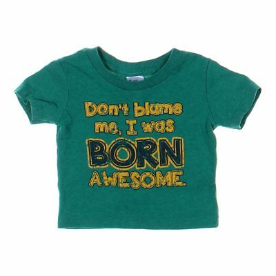 Little Teez Baby Boys  T-shirt, size 12 mo,  green,  cotton, polyester