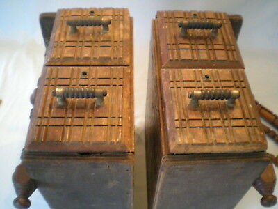 Set of 2 Antique /Vtg Wooden Treadle Sewing Machine Drawers ~4 Drawers in All!