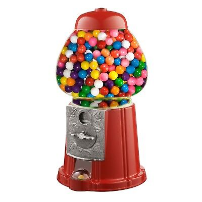 """15"""" Vintage Candy Gumball Machine Bank Old Fashioned Metal Glass Ball Bubblegum"""