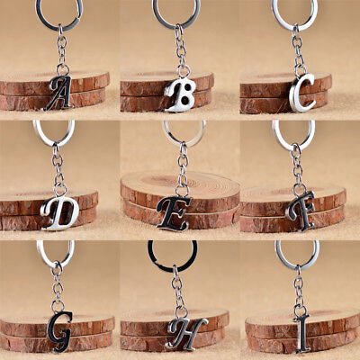 English Letter Car Keychain Pendant Stainless steel Key Ring Zinc Jewelry Gifts