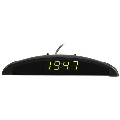 3In1 Auto Car 12V Digital LED Voltmeter Spannung Temperatur Uhr Thermometer F7P4