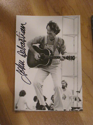 Singer JOHN SEBASTIAN Signed WOODSTOCK 4x6 Photo LOVIN' SPOONFUL AUTOGRAPH 1