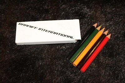 Braniff International Airways Vintage Colored Pencils For Kids. Given To Kids On