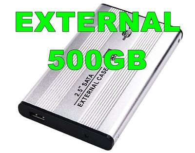 External USB 500GB Slim HDD Hard Disk Drive Backup Storage Portable EXT HD USED