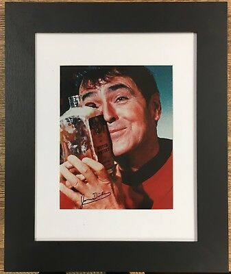 Engineer Scotty with his Scotch Signed by James Doohan