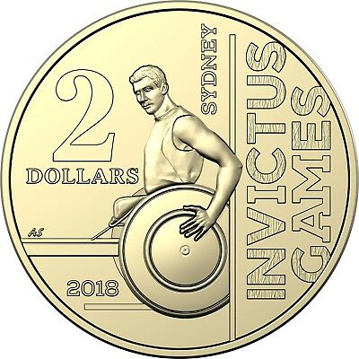 2018 Australia $2 UNC Coin - INVICTUS GAMES - From RAM Mint Roll