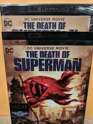 New 2018 The Death of Superman 4k ULTRA HD & Blu-ray NO DIGITAL Action Movie