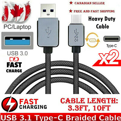 Fast Charge Charging Cable USB-C Type-C Samsung Galaxy Note 8 S8+ Braided Sync