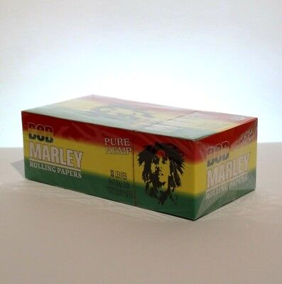Bob Marley Pure Hemp 1 ¼ Smoking Rolling Paper - 1 Box (50 Booklets)