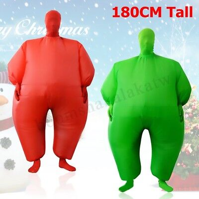Fan Operated Inflatable Fat Masked Suit Dress Blow Up  Fancy Chub Party Costume