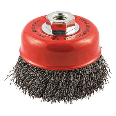 """GRAINGER APPROVED Cup Brush,Wire 0.020"""" dia.,Carbon Steel, 66252838779"""